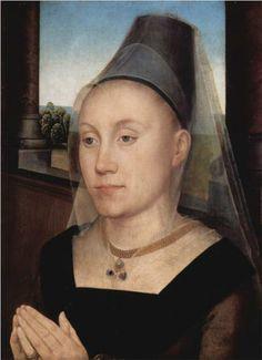 Barbara de Vlaenderberch - Hans Memling. c.1480. Oil on panel. 37 x 27 cm. Musee Royaux des Beaux-Arts di Belgique, Brussels, Belgium.