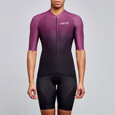endless burgundy colour fade cycling jersey