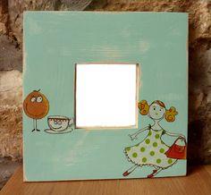 Espejo decorado con decoupage