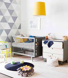 Optez pour la combinaison de couleurs avec des mosaïques.  #GaspardetZoe #chambrebebe