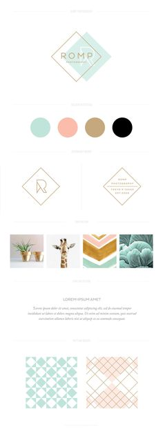 Design Collateral Brand design by Aviary Creative // Romp Photography Distinctive brand design for small business Corporate Design, Brand Identity Design, Graphic Design Branding, Brand Design, Modern Logo Design, Web Design, Website Design, Website Ideas, Logo Inspiration