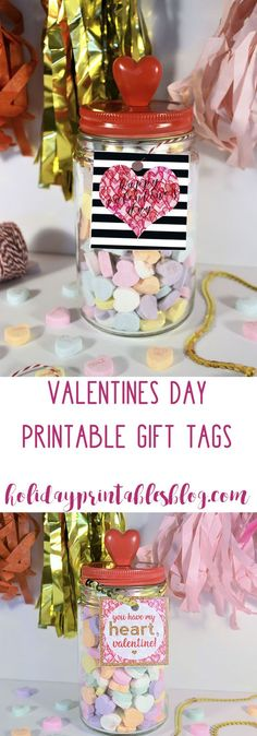 The Ultimate Pinterest Party, Week 132 Valentine's Day Free Printable Gift Tags | Teacher Gift Idea | Printable Valentines Tags | Holiday Printables