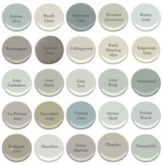25 Shades of My Favorite Gray's - Benjamin Moore Interior Paint Colors For Living Room, Paint Colors For Home, Paint Colours, Best Bathroom Paint Colors, Small Bedroom Paint Colors, Magnolia Paint Colors, Hallway Paint Colors, Fixer Upper Paint Colors, Nursery Paint Colors