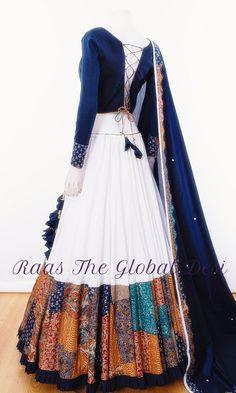 chaniya choli for garba Indian Fashion Dresses, Indian Bridal Outfits, Indian Gowns Dresses, Dress Indian Style, Indian Designer Outfits, Fashion Outfits, Choli Designs, Lehenga Designs, Saree Blouse Designs