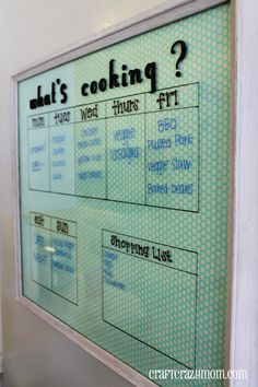 Family Meal Planner !!!!!   Craft Crazy Mom