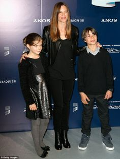 Family photo of the actress, dating Laurent Fleury, famous for Brandon Teena on Boys Dont Cry.