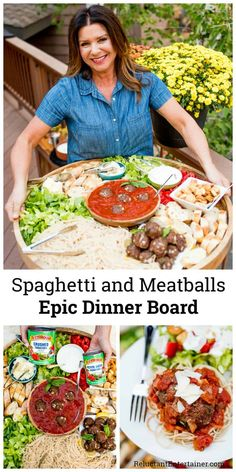 For cozy hosting, enjoy a Spaghetti and Meatballs Epic Dinner Board, made with t. For cozy hosting, enjoy a Spaghetti and Meatballs Epic Dinner Board, made with the best tasting Charcuterie And Cheese Board, Charcuterie Platter, Cheese Boards, Party Food Platters, Food Trays, Party Food Bars, Comida Picnic, Southern Appetizers, Easy Christmas Dinner
