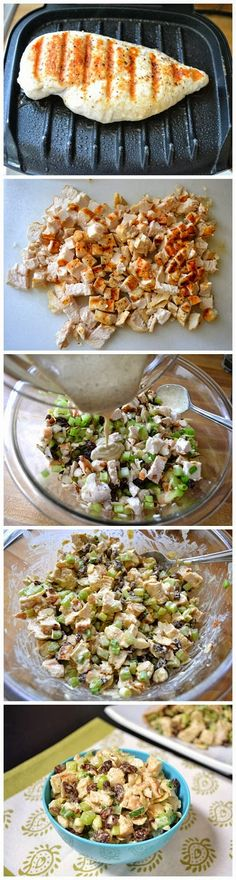 curry chicken salad, sounds good in a pita pocket with sprouts to make a sandwich!