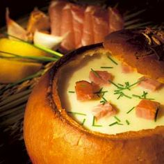 Onion cream soup with red onoin of Makó served in bread! It doesn't matter where are you from, if you eat it, you feel like in mama's kitchen!