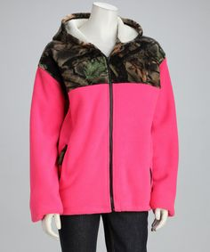 Take a look at this Trail Crest Rose Camo Fleece Jacket - Women by Trail Crest on #zulily today!