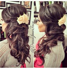This is so pretty might be good for rachel's wedding hair!