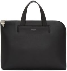 Wooyoungmi for Men Collection Black Leather Briefcase, Leather Men, Logo Stamp, Laptop Bag, Amazing Women, Mens Fashion, Handbags, Tote Bag, Briefcases