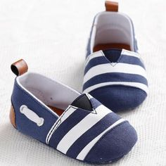 fdc8c19b64ef1 Classic Leisure Handsome Newborn Baby Boys Kids First Walkers Shoes Infant  Babe Crib Soft Bottom Striped