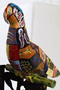 paper mache parrot