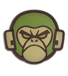 MSM Monkey Head PVC Hook Velcro Back Patch (Forest) - Blade HQ