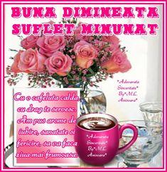 Buna dimineata O cafeluta dulce si fierbinte de la mine ...
