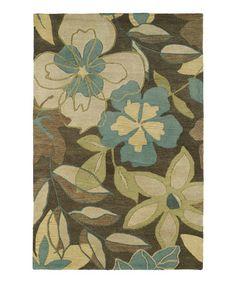 Another great find on #zulily! Azure Calais Wool Rug #zulilyfinds