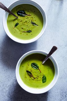 Bright Green Pea & Coconut Soup (Gluten-free, Vegan) / Sassy Kitchen