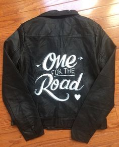 Painted by hand and inspired by Alex Turners One For The Road jacket, this is the perfect jacket to show your love for Arctic Monkeys and their