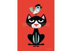 Affiche Ingela Arrhenius - Kat - Ingela Arrhenius, Mes Habits Chéris - kidstore Récréatif - Décoration enfant