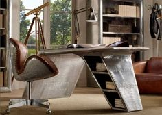 This desk reminds me of Howard Hughes. It's retro, cool, odd and sort of steam punk all at once.