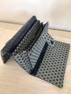 Compagnon Complice noir et blanc géométrique cousu par Isabelle - Patron Sacôtin