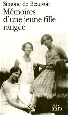 Simone de Beauvoir (left, seated), Élizabeth Lacoin standing at. I Love Books, Good Books, Books To Read, My Books, Book Writer, Book Reader, Feminist Books, Dream Music, Lus