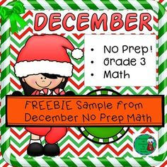 Enjoy these two free pages with answer keys to use with your students for holiday happiness! They are part of my December No Prep! Grade 3! Math product! Check out more NO Prep Math products:No Prep! Grade 3 Math for DecemberNo Prep! Grade 3 Math for JanuaryNo Prep!