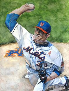 Mets pitcher Matt Harvey by Michael Pattison