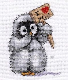 Buy Toddles the Baby Penguin Cross Stitch Kit Online at www.sewandso.co.uk