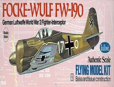The 1/32 Focke-Wulf FW-190 is a balsa wood aircraft model kit from the range manufactured by Guillow.  Although it had a radial engine, the German Focke-Wulf Fw-190 was one of the most beautifully proportioned fighters of World War 2. The pride of Marshall Goering, the 190 maintained superiority over the British Spitfire 5 for almost two years because it could out fly its opponent on nearly every count. Approximately 20, 000 Focke-Wulf's were produced.