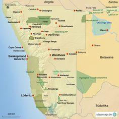 Namibia | karte map