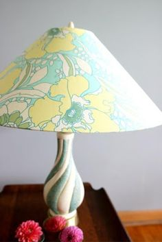 Crafty Little Chick: Recovering a Lampshade Tutorial