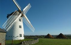 Llynnon Mill, built in 1775, is the only working windmill in Wales producing stoneground wholemeal flour using organic wheat.