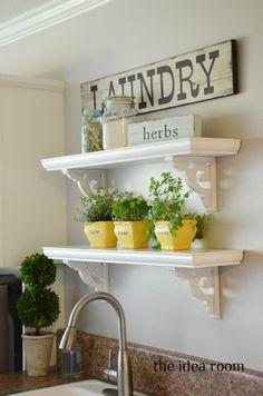 DIY Cafe Shelves via Amy Huntley (The Idea Room)