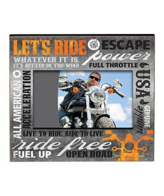 Look at this 'Ride Free' Typography Frame on #zulily today!