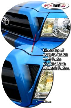 Grille Vent Enhancement Decal Kit 1 for Toyota Tacoma Fade To Black, Toyota Tacoma, Car Decals, Kit, Vehicles, Car Decal, Vehicle, Car Stickers, Tools