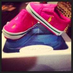 Baby Polo Ralph Lauren pink shoes...too cute for words!