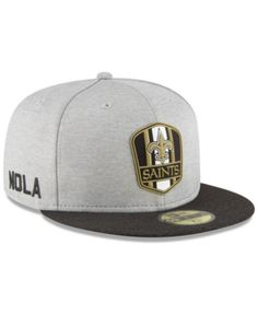 273a74d4edd2a New Era New Orleans Saints On Field Sideline Road 59FIFTY Fitted Cap -  Black 7 3