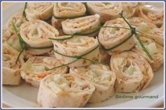 wraps_au_thon2 Mini Wraps, Appetizer Recipes, Appetizers, Butterfly Party, Healthy Summer Recipes, Entrees, Zucchini, Vegetables, Food