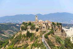 Byen etruskiske - Civita di Bagnoregio - Italien