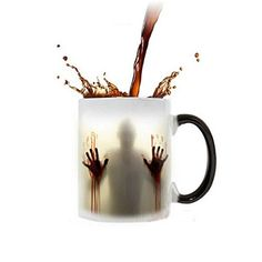 Walking Dead Mug 11 Oz Hot Cold Heat Sensitive Color Changing Coffee Tea Milk Ceramic Cup Creative Christmas Halloween  @ niftywarehouse.com #NiftyWarehouse #WalkingDead #Zombie #Zombies #TV