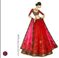 House of Neeta Lulla Indian Fashion, Fashion Art, Fashion Models, Girl Fashion, Fashion Outfits, Crazy Fashion, Fashion Logo Design, Fashion Design Drawings, Fashion Sketches