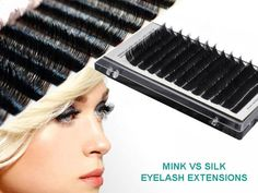 Learn about the differences between real mink lash extensions vs silk eyelash extensions in price, texture, and natural look, and get tips to help you choose which type of professional semi-permanent lash is better for you! Eyelash Extensions Reviews, Silk Eyelash Extensions, Brow Extensions, Eye Makeup, Makeup Tips, Hair Makeup, Makeup Ideas, Makeup Geek, Lash Extensions