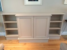 Painted timber media cabinet