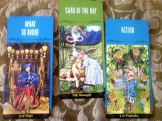 Using my new deck Tarot Illuminati - this spread shows you that you have the strength and courage to deal with the situation at hand today but you musn't appear too smug or self righteous. It is not the right time to just sit back and assume everything will work out, you must work hard today to achieve what needs to be done. Continue working hard, you can do it.