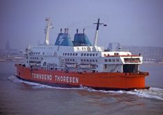 Townsend Thoresen ferries--how we got to France and Belgium
