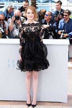 Cannes 2015: Best Looks From The Red Carpet | The Zoe Report Emma Stone in Oscars DE LA renta