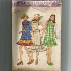Simplicity Misses' Dress or Jumper in Two Lengths Pattern 6445 by NewAgain on Etsy
