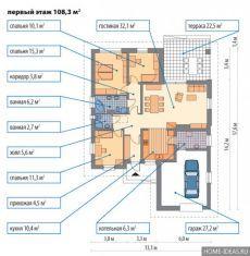 Примеры планировки одноэтажных домов с чертежами и фото — Мой дом